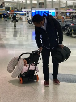 J.L. Childress (rolled-up) with our Cyber Anton 2 on the Go-Go Babyz Travelmate Deluxe