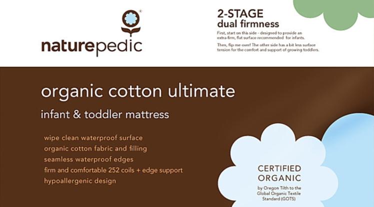 Naturepedic Organic Cotton Ultimate Infant & Toddler Mattress