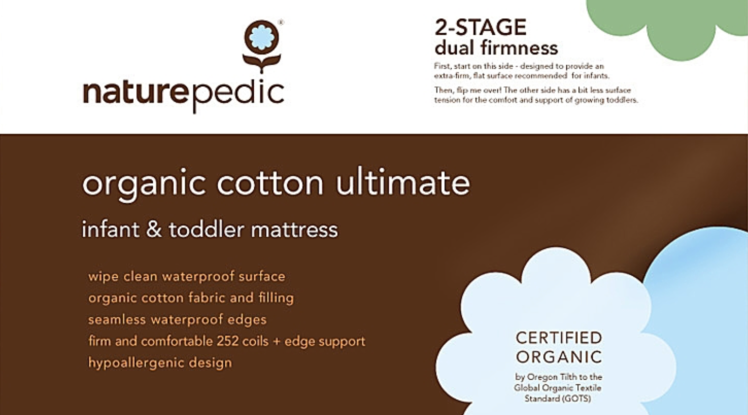Naturepedic Organic Cotton Ultimate Infant & Toddler Mattress